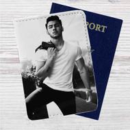 Nick Jonas Custom Leather Passport Wallet Case Cover
