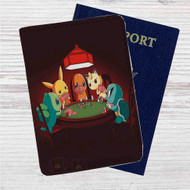 Pokemon Playing Card Custom Leather Passport Wallet Case Cover