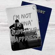 Shawn Mendes I'm Not Tryina Ruin Custom Leather Passport Wallet Case Cover