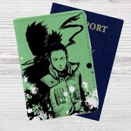 Shikamaru Nara Naruto Custom Leather Passport Wallet Case Cover