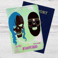 Skrillex and Rick Ross Suicide Squad Custom Leather Passport Wallet Case Cover