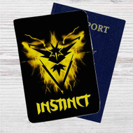 Team Instinct Pokemon GO Custom Leather Passport Wallet Case Cover