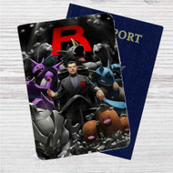 Team Rocket Leader Pokemon Custom Leather Passport Wallet Case Cover