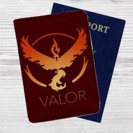 Team Valor Pokemon Custom Leather Passport Wallet Case Cover