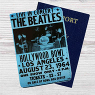 The Beatles Hollywood Bowl Custom Leather Passport Wallet Case Cover