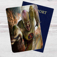 The Flash Grodd Is Here And Reverse Flash Custom Leather Passport Wallet Case Cover