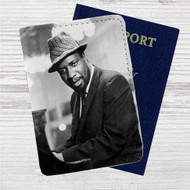 Thelonious Monk Jazz Custom Leather Passport Wallet Case Cover