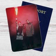 Twenty One Pilots Fire Custom Leather Passport Wallet Case Cover