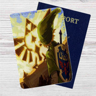 Zelda Temple of Time Custom Leather Passport Wallet Case Cover