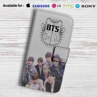 Bangtan Boys BTS Custom Leather Wallet iPhone 4/4S 5S/C 6/6S Plus 7| Samsung Galaxy S4 S5 S6 S7 Note 3 4 5| LG G2 G3 G4| Motorola Moto X X2 Nexus 6| Sony Z3 Z4 Mini| HTC ONE X M7 M8 M9 Case