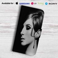 Barbra Streisand Face Custom Leather Wallet iPhone 4/4S 5S/C 6/6S Plus 7| Samsung Galaxy S4 S5 S6 S7 Note 3 4 5| LG G2 G3 G4| Motorola Moto X X2 Nexus 6| Sony Z3 Z4 Mini| HTC ONE X M7 M8 M9 Case