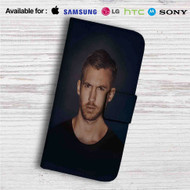 Calvin Harris Custom Leather Wallet iPhone 4/4S 5S/C 6/6S Plus 7| Samsung Galaxy S4 S5 S6 S7 Note 3 4 5| LG G2 G3 G4| Motorola Moto X X2 Nexus 6| Sony Z3 Z4 Mini| HTC ONE X M7 M8 M9 Case