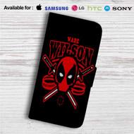 Deadpool Wade Wilson Custom Leather Wallet iPhone 4/4S 5S/C 6/6S Plus 7| Samsung Galaxy S4 S5 S6 S7 Note 3 4 5| LG G2 G3 G4| Motorola Moto X X2 Nexus 6| Sony Z3 Z4 Mini| HTC ONE X M7 M8 M9 Case