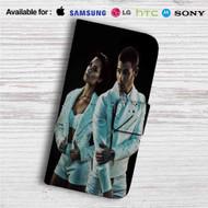 Demi Lovato and Nick Jonas Custom Leather Wallet iPhone 4/4S 5S/C 6/6S Plus 7| Samsung Galaxy S4 S5 S6 S7 Note 3 4 5| LG G2 G3 G4| Motorola Moto X X2 Nexus 6| Sony Z3 Z4 Mini| HTC ONE X M7 M8 M9 Case