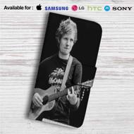Ed Sheeran With Guitar Custom Leather Wallet iPhone 4/4S 5S/C 6/6S Plus 7| Samsung Galaxy S4 S5 S6 S7 Note 3 4 5| LG G2 G3 G4| Motorola Moto X X2 Nexus 6| Sony Z3 Z4 Mini| HTC ONE X M7 M8 M9 Case