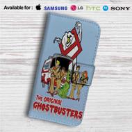Ghostbusters Scooby Doo Custom Leather Wallet iPhone 4/4S 5S/C 6/6S Plus 7| Samsung Galaxy S4 S5 S6 S7 Note 3 4 5| LG G2 G3 G4| Motorola Moto X X2 Nexus 6| Sony Z3 Z4 Mini| HTC ONE X M7 M8 M9 Case