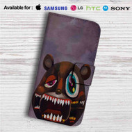 Kanye West Dark Bear Custom Leather Wallet iPhone 4/4S 5S/C 6/6S Plus 7| Samsung Galaxy S4 S5 S6 S7 Note 3 4 5| LG G2 G3 G4| Motorola Moto X X2 Nexus 6| Sony Z3 Z4 Mini| HTC ONE X M7 M8 M9 Case