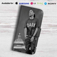 Kendrick Lamar Custom Leather Wallet iPhone 4/4S 5S/C 6/6S Plus 7| Samsung Galaxy S4 S5 S6 S7 Note 3 4 5| LG G2 G3 G4| Motorola Moto X X2 Nexus 6| Sony Z3 Z4 Mini| HTC ONE X M7 M8 M9 Case