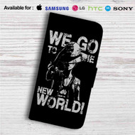 Luffy We Go to The New World Custom Leather Wallet iPhone 4/4S 5S/C 6/6S Plus 7| Samsung Galaxy S4 S5 S6 S7 Note 3 4 5| LG G2 G3 G4| Motorola Moto X X2 Nexus 6| Sony Z3 Z4 Mini| HTC ONE X M7 M8 M9 Case