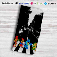 Mario Zelda Megaman Abbey Road Custom Leather Wallet iPhone 4/4S 5S/C 6/6S Plus 7| Samsung Galaxy S4 S5 S6 S7 Note 3 4 5| LG G2 G3 G4| Motorola Moto X X2 Nexus 6| Sony Z3 Z4 Mini| HTC ONE X M7 M8 M9 Case