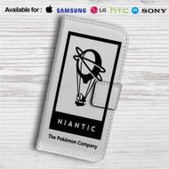 Niantic The Pokemon Company Custom Leather Wallet iPhone 4/4S 5S/C 6/6S Plus 7| Samsung Galaxy S4 S5 S6 S7 Note 3 4 5| LG G2 G3 G4| Motorola Moto X X2 Nexus 6| Sony Z3 Z4 Mini| HTC ONE X M7 M8 M9 Case