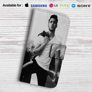 Nick Jonas Custom Leather Wallet iPhone 4/4S 5S/C 6/6S Plus 7| Samsung Galaxy S4 S5 S6 S7 Note 3 4 5| LG G2 G3 G4| Motorola Moto X X2 Nexus 6| Sony Z3 Z4 Mini| HTC ONE X M7 M8 M9 Case