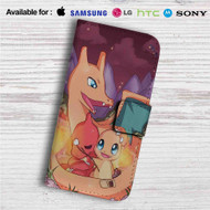 Pokefamily Vacation Charmander Custom Leather Wallet iPhone 4/4S 5S/C 6/6S Plus 7| Samsung Galaxy S4 S5 S6 S7 Note 3 4 5| LG G2 G3 G4| Motorola Moto X X2 Nexus 6| Sony Z3 Z4 Mini| HTC ONE X M7 M8 M9 Case