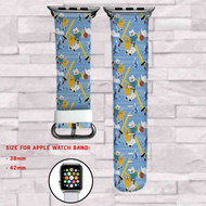 Adventure Time Jake and Finn Swords Custom Apple Watch Band Leather Strap Wrist Band Replacement 38mm 42mm
