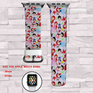 Ariel Princess Disney  Custom Apple Watch Band Leather Strap Wrist Band Replacement 38mm 42mm
