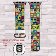 Batman Comics DC Comics Custom Apple Watch Band Leather Strap Wrist Band Replacement 38mm 42mm