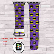 Batman Purple Custom Apple Watch Band Leather Strap Wrist Band Replacement 38mm 42mm
