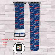 Buffalo Bills Custom Apple Watch Band Leather Strap Wrist Band Replacement 38mm 42mm