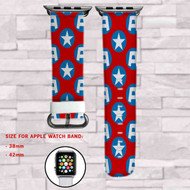Captain America Marvel Superheroes Custom Apple Watch Band Leather Strap Wrist Band Replacement 38mm 42mm