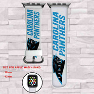 Carolina Panthers Custom Apple Watch Band Leather Strap Wrist Band Replacement 38mm 42mm