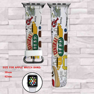 Central Perk Friends Custom Apple Watch Band Leather Strap Wrist Band Replacement 38mm 42mm