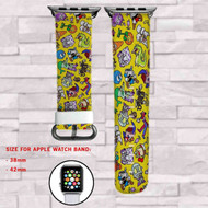 CupHead Custom Apple Watch Band Leather Strap Wrist Band Replacement 38mm 42mm