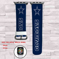 Dallas Cowboys Custom Apple Watch Band Leather Strap Wrist Band Replacement 38mm 42mm