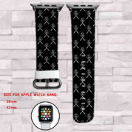 Darth Vader Star Wars Custom Apple Watch Band Leather Strap Wrist Band Replacement 38mm 42mm