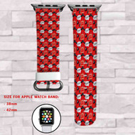 Deadpool Bang Bang Custom Apple Watch Band Leather Strap Wrist Band Replacement 38mm 42mm