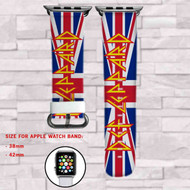 Def Leppard on Target Custom Apple Watch Band Leather Strap Wrist Band Replacement 38mm 42mm