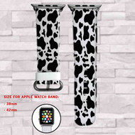 Disney 101 Dalmatians Texture Custom Apple Watch Band Leather Strap Wrist Band Replacement 38mm 42mm