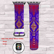 Disney Aladdin Magic Carpet Custom Apple Watch Band Leather Strap Wrist Band Replacement 38mm 42mm