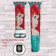 Disney Ariel The Little Mermaid Custom Apple Watch Band Leather Strap Wrist Band Replacement 38mm 42mm