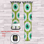 Disney Monster Inc Eyes Custom Apple Watch Band Leather Strap Wrist Band Replacement 38mm 42mm