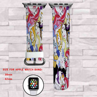 Disney Princess Custom Apple Watch Band Leather Strap Wrist Band Replacement 38mm 42mm