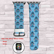 Disney Stitch 2 Custom Apple Watch Band Leather Strap Wrist Band Replacement 38mm 42mm