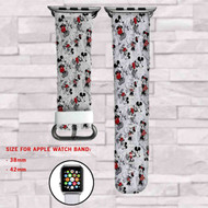 Disney Vintage Mickey Custom Apple Watch Band Leather Strap Wrist Band Replacement 38mm 42mm