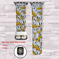 Donald Duck Disney Custom Apple Watch Band Leather Strap Wrist Band Replacement 38mm 42mm
