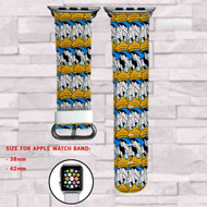 Donald Duck Face Disney Custom Apple Watch Band Leather Strap Wrist Band Replacement 38mm 42mm