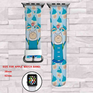 Finn Adventure Time Custom Apple Watch Band Leather Strap Wrist Band Replacement 38mm 42mm